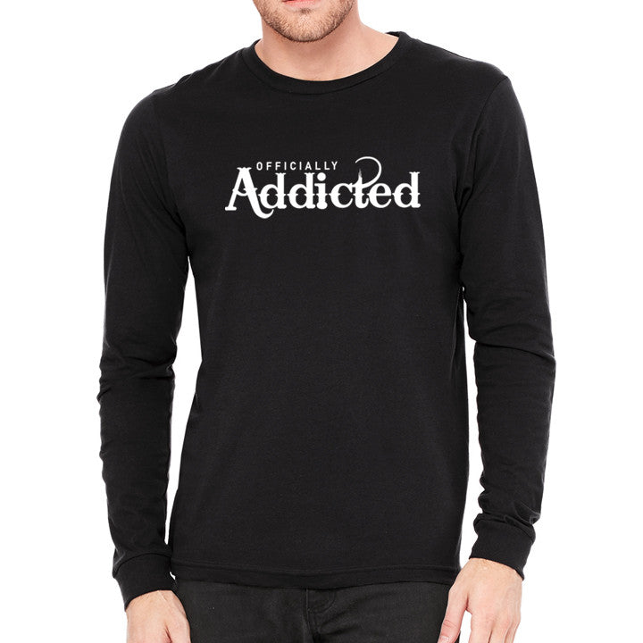 OFFICIALLY ADDICTED MEN'S L/S TEE | BLACK