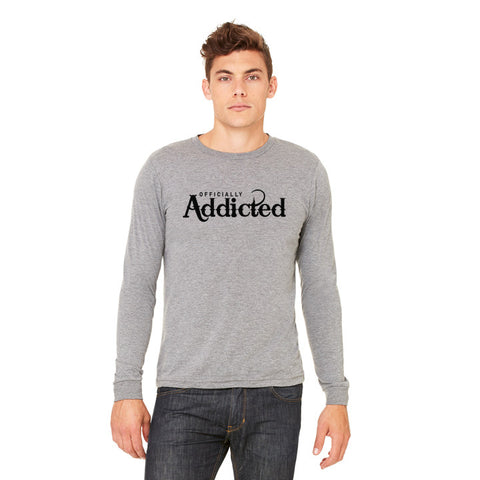OFFICIALLY ADDICTED OFF-SHOULDER SWEATSHIRT | BLACK