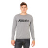 OFFICIALLY ADDICTED MEN'S L/S TEE | GREY