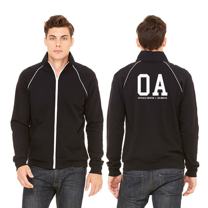 OA x LA PIPED FLEECE JACKET | BLACK