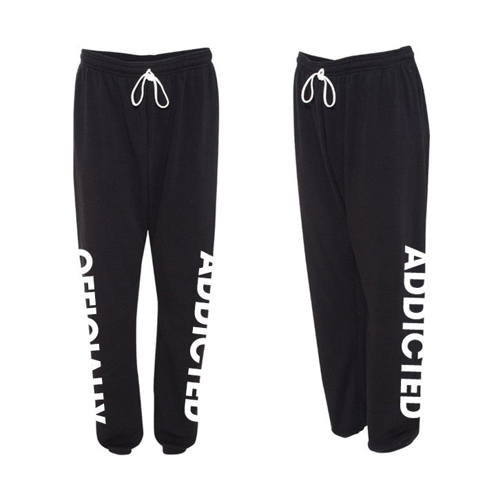 OFFICIALLY ADDICTED SWEATPANTS | UNISEX | BLACK