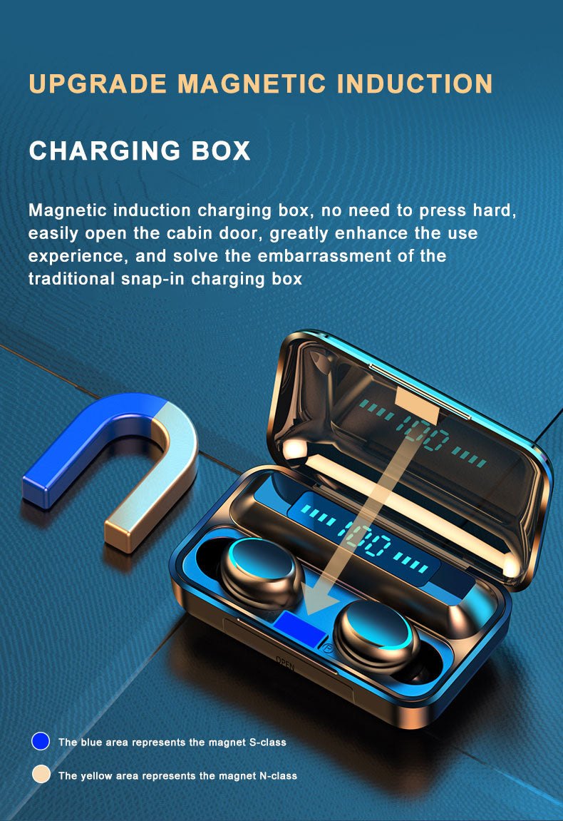 Magnetic induction charging box