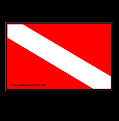 Diving Diver Flag Decal Scuba Sticker