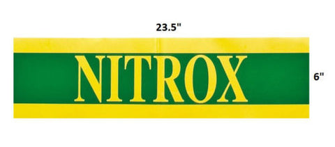Large Nitrox Only Tank Band Warning Tank Label