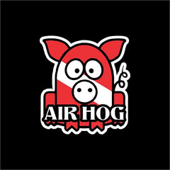 Air Hog scuba flag sticker