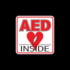AED inside automatic external defibrillator