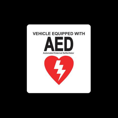 Vehicle equipped with AED automated external defibrillator