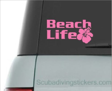 Beach Life Hibiscus Decal