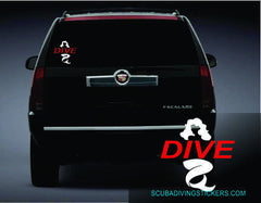 Mermaid Dive Scuba Decal