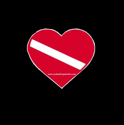 Dive Flag Heart Shaped