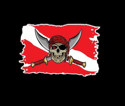 Pirate Skull Sword Dive Flag