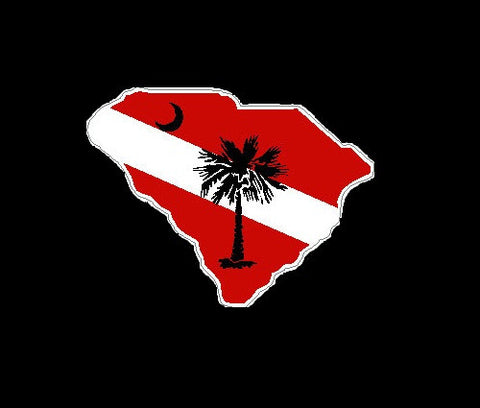 South Carolina Palmetto Dive Flag
