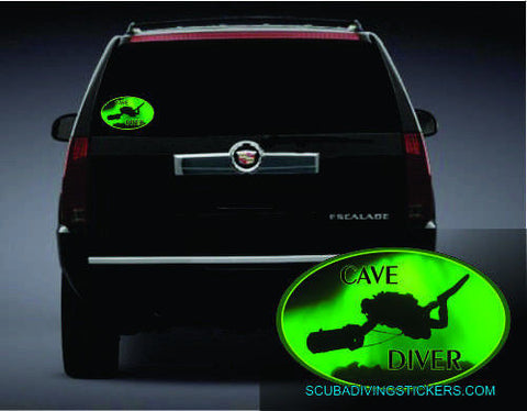 Cave Diver Oval Sticker