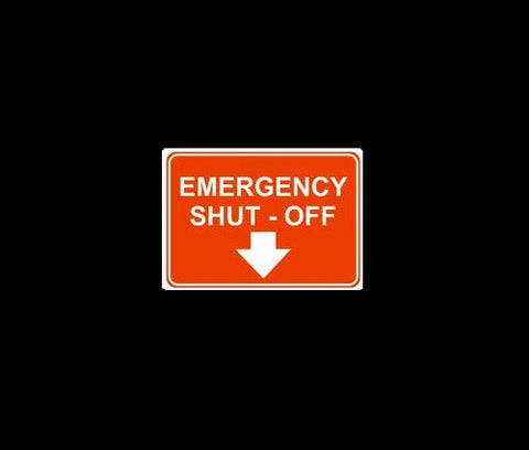 Emergency Shut Off Arrow Down