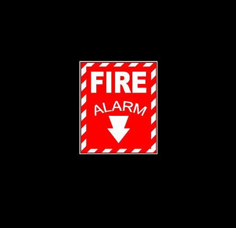 Fire Alarm Decal Sign
