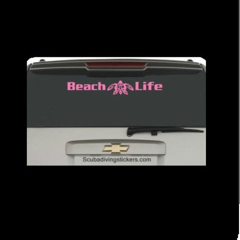 Beach Life Turtle Decal