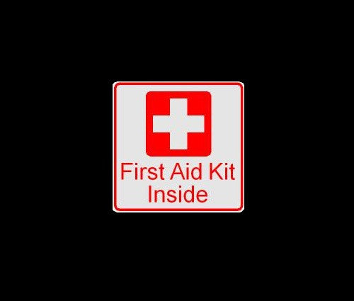 First Aid Kit Inside Decal Sticker Scubadivingstickers