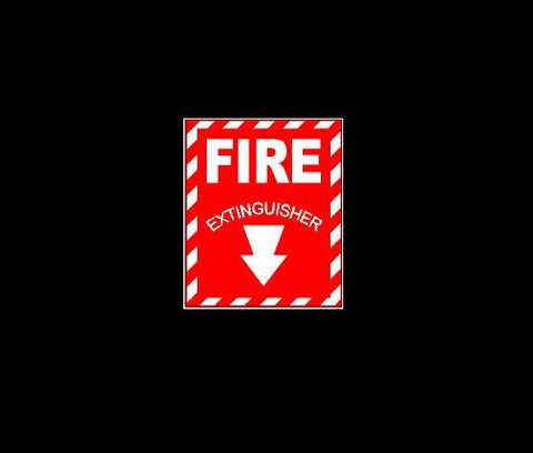 Fire Extinguisher Sign Decal