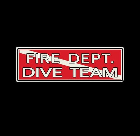 Fire Dept. Dive Team Decal