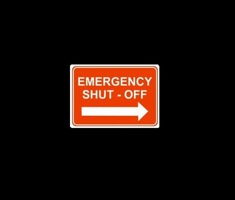 Emergency Shut Off Arrow Right