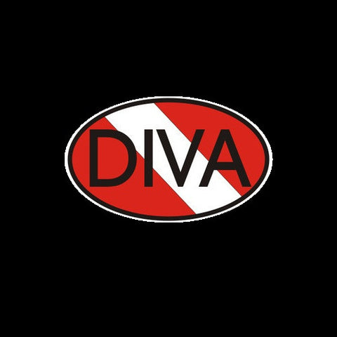Dive Diva Oval Flag