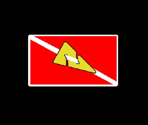 Cave Diving Arrow in Flag