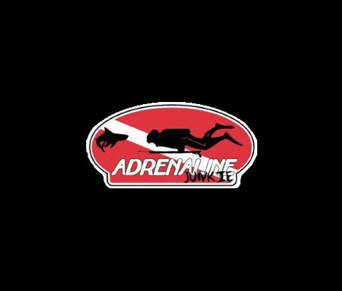 Adrenaline Junkie Spearfishing Decal
