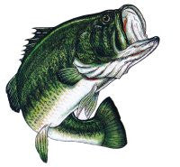 Large Bass Decal Sticker