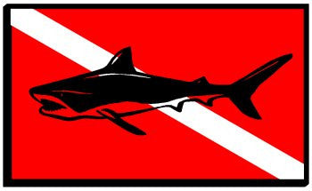 Shark Dive Flag