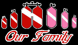 Scuba Family Tank Stickers