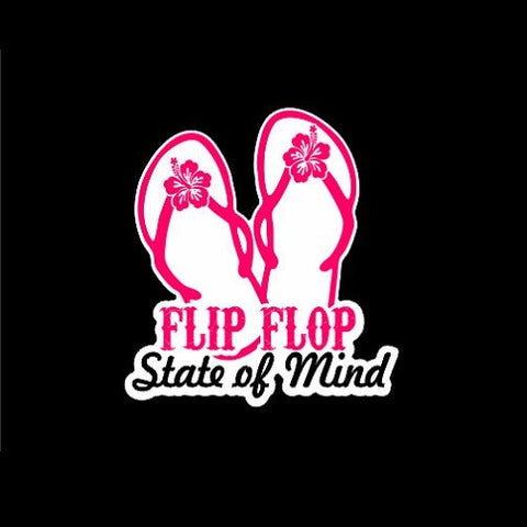 Flip Flop State of Mind Sticker Decal