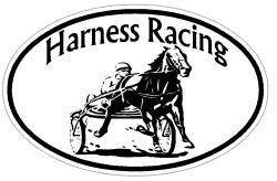 Harness Racing Oval Decal