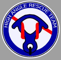 High Angle Rescue Team Rappelling