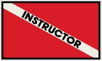 Instructor Diving Flag