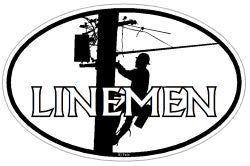 Linemen / Lineman Union electrician oval decal sticker