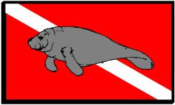 Manatee on Dive Flag