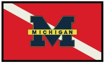 Michigan Dive Flag