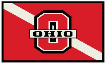 OHIO on dive flag decal
