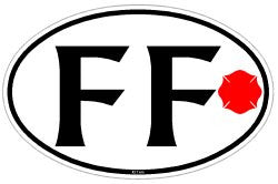 Professional Firefighter Oval Decal