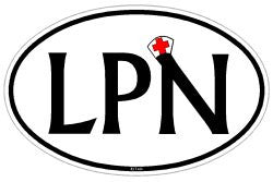 LPN Licensed Practical Nurse Decal