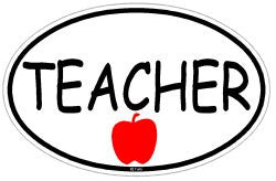 Teacher professional Decal Sticker Oval