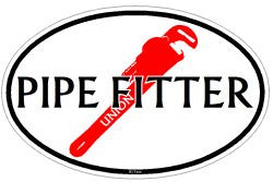 Pipe Fitter Oval decal sticker Union