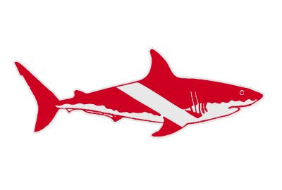 Shark as Dive Flag Decal