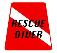 Rescue Diver Tetrahedron Decal