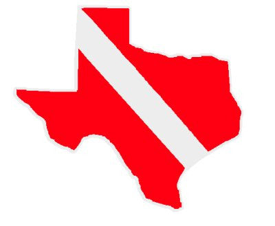 Texas Dive Flag Decal