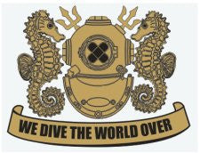 We Dive The World Decal