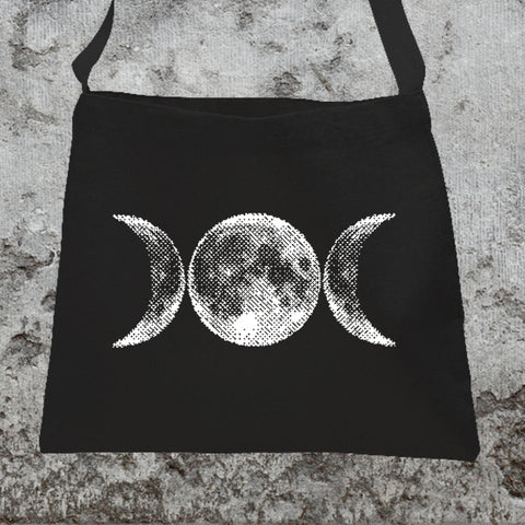 8-Bit Triple Moon Messenger Tote