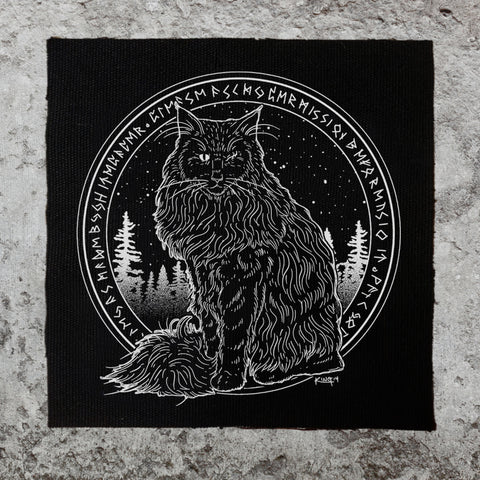 Forest Cat Back Patch