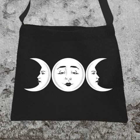 Triple Moon Goddess Messenger Tote