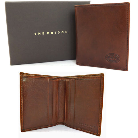 The Bridge Slim Leather Shirt Wallet - Style: 01208401 - Brown